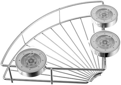 Queenwind のステンレス鋼の三脚の壁の吸盤の棚の貯蔵のコーナーの棚の分類のバスケット
