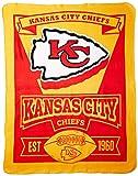 The Northwest Company 1NFL/03102/0007/AMZ NFL Kansas City Chiefs Marque Printed Fleece Throw, 50″ x 60″, Kansas City Chiefs, 50 x 60