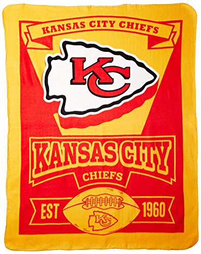 The Northwest Company 1NFL/03102/0007/AMZ NFL Kansas City Chiefs Marque Printed Fleece Throw, 50