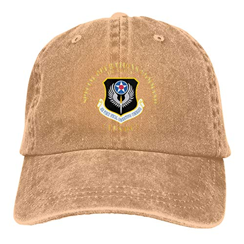 Trucker Cap Air Force Special Operations Command Durable Baseball Cap,Adjustable Dad Hat Natural