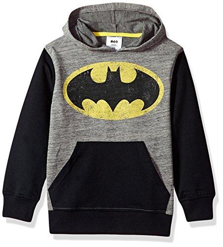 DC Comics Big Boys' Batman Fleece Pullover Hoodie, Grey/Black, 12 (Hoodie Batman)