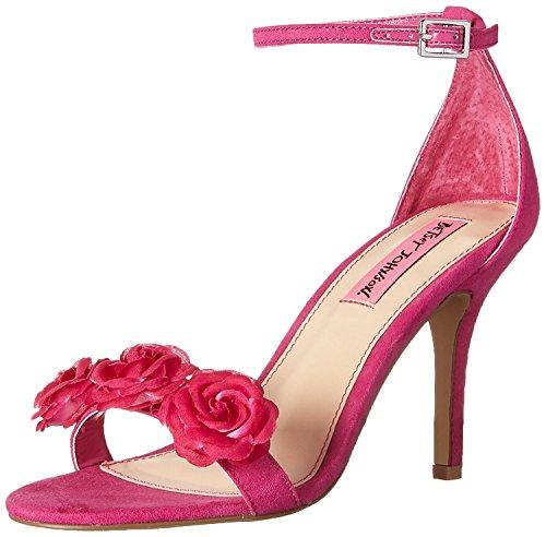 Betsey Johnson Women's Bromme Dress Sandal, Fuchsia 5.5 M US