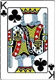 1/2 Sheet - Casino Poker King of Clubs Birthday - Cake Photo Frame - Edible Cake/Cupcake Party Topper!!!