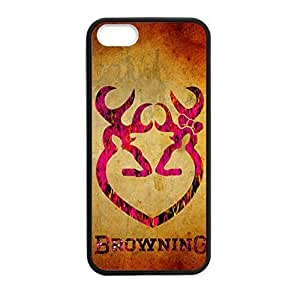 Diy Yourself Browning Deer Camo for iPhone 5 5s case cover Rubber Sides Shockproof fJre3WB9L7B protective with Laser Technology Printing Matte Result