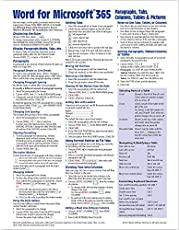 Microsoft Word for Office 365 Intermediate Quick Reference Paragraphs, Tabs, Columns, Tables & Pictures - Windows Version (Cheat Sheet of Instructions, Tips & Shortcuts - Laminated Card)
