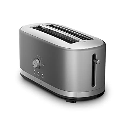 Kitchenaid Kmt4116cu 4 Slice Long Slot Toaster With High Lift Lever Contour Silver