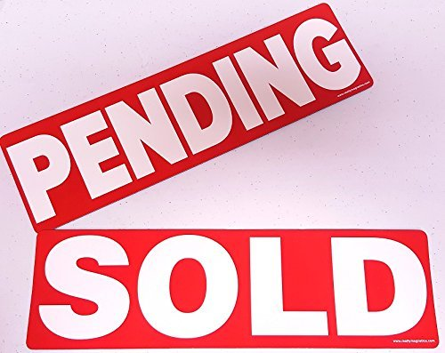 2 Pack SOLD and PENDING Magnetic Sign Real Estate Riders for Yard Sign