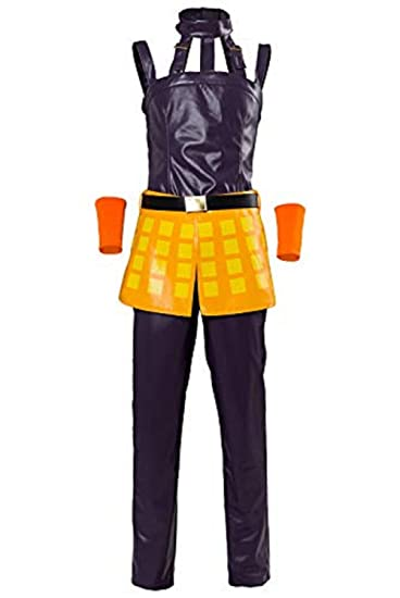 UU-Style JoJo's Bizarre Adventure Narancia Ghirga Halloween Cosplay Costume Full Set Suit Uniform Vest (Female:Medium): Amazon.in: Clothing & Accessories