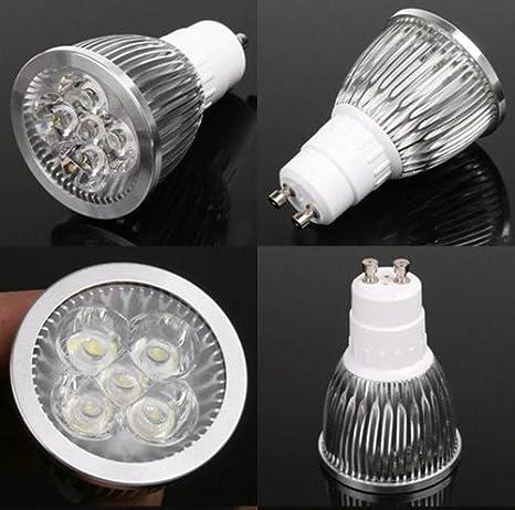 Pack 3 Lamparas bombillas led GU10 7W 6400K luz blanca fría: Amazon.es: Iluminación