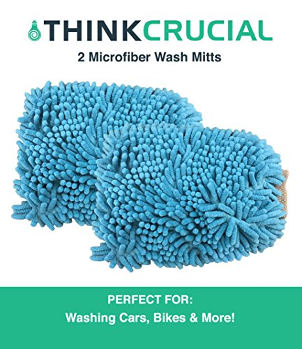 r Cleaning Wash Mitt, Glove, Scratch-Free, Great for Car Washing & More, by Think Crucial (Winter Chenille)