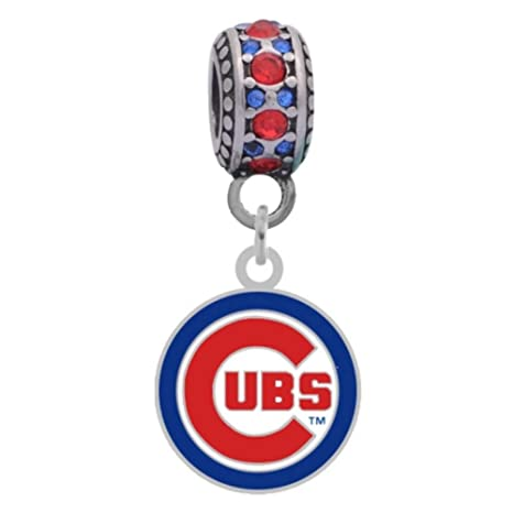 ef5309559 Final Touch Gifts Chicago Cubs Logo Charm Fits Most Bracelet Lines  Including Pandora, Chamilia,