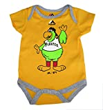 Majestic Pittsburgh Pirates Pirate Parrot Logo Infant Onesie Size 6-9 Months Bodysuit Creeper Yellow