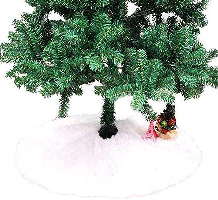 Falda de árbol de Navidad, Alfombra de Felpa Blanca Redonda, Falda ...