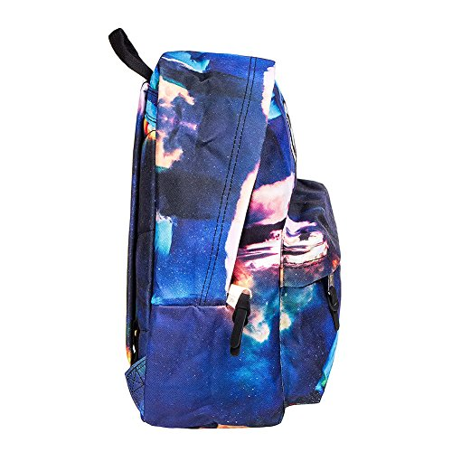 Rucksack BACK Blue Backpack Unisex Hype Space TO SCHOOL Jupiter vSTx5