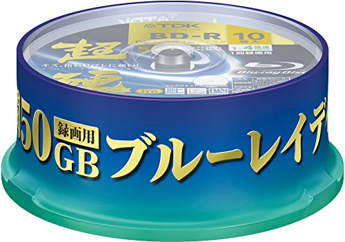 TDK Blu Ray Discs 50 GB BD-R DL 4x Speed High Grade Bluray Dual Layer Spindle by Gadgets World