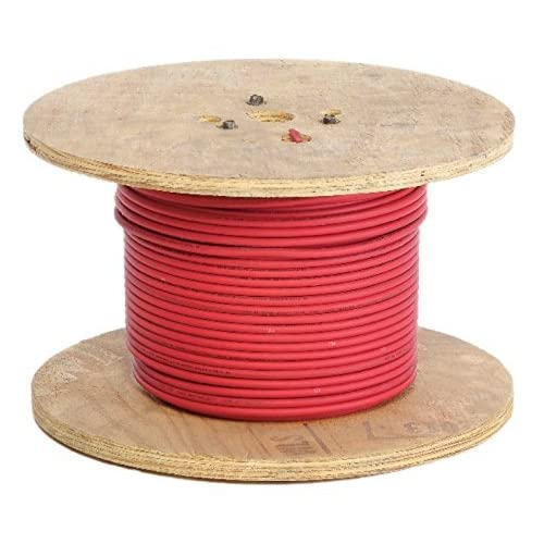 70%OFF Crimp Supply Ultra-Flexible Car Battery/Welding Cable - 8 Gauge, Red - 20 Feet - and 5 Copper Lugs