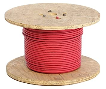 25 Feet Red 4 Gauge and 5 Copper Lugs Crimp Supply Ultra-Flexible Car Battery//Welding Cable