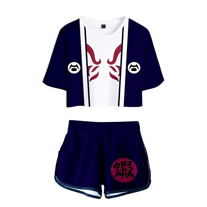 Amazon.com: Naruto Outfits Akatsuki Cosplay Anime Print Crop ...