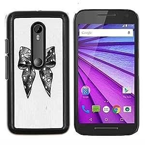 Planetar® ( Lunares Retrato a lápiz de moda ) Motorola MOTO G3 / Moto G (3nd Generation) Fundas Cover Cubre Hard Case Cover