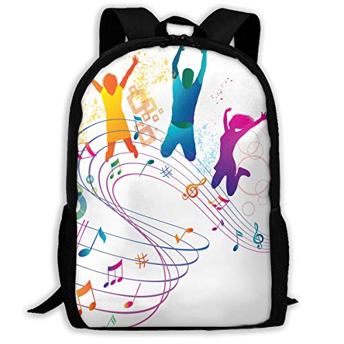 Backpack Musical Notes Mens School Campus Backpack Fabulous Gift ()