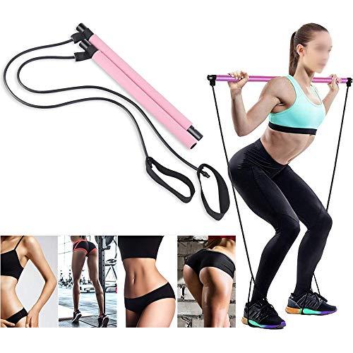 ZHLONG Pilates Bar Fitness Corde Yoga Bracelet Extensible Dispositif de Traction Corde Aérobie Équipement…