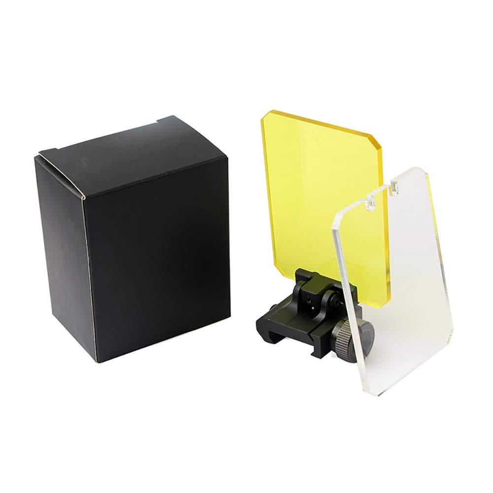 Ohhome Lente deflectora Protectora de 20 mm Protectores rectangulares de protecci/ón Ocular Sombreado Vista telesc/ópica hologr/áfica len