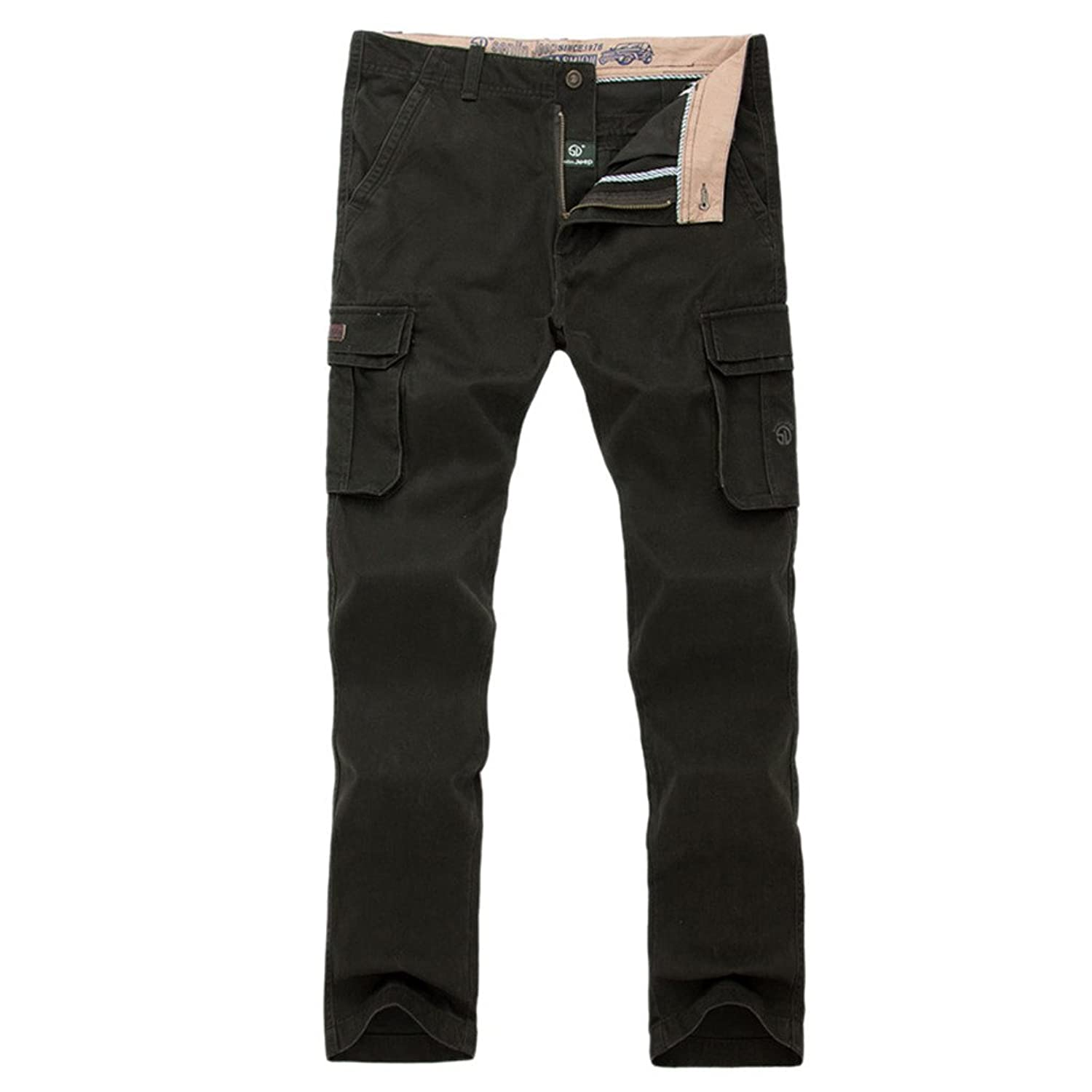 Dantiya Men's Cotton Army Cargo Pants Outdoors Active Trousers