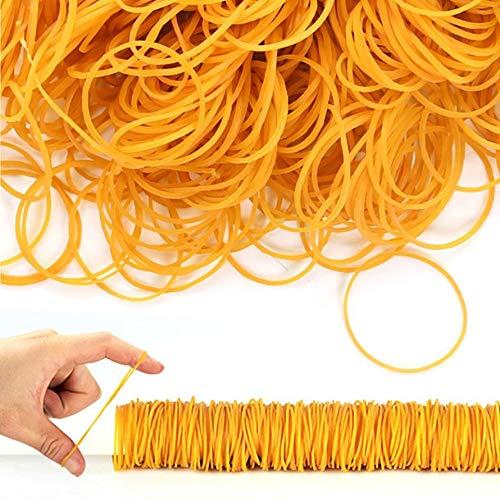 Kongqiabona Elastici in Gomma per LUfficio Scolastico Pacchetto per la casa Anello in Gomma antinvecchiamento Colore Giallo Elastico Forte 100 Pz//Pacco