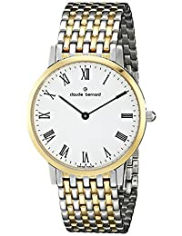 Claude Bernard Men's 20061 357JM BR Classic Gents - Slim Line Analog Display Swiss Quartz Two Tone Watch