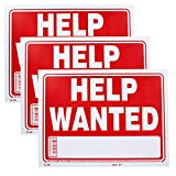 Bazic Small 9 x 12 Inches Help Wanted Sign, Pack of 3 (S-20)