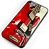 iPhone Case Fits Apple iPhone 8 PLUS 8+ Red Electric Guitar Rock And Roll Black Plastic
