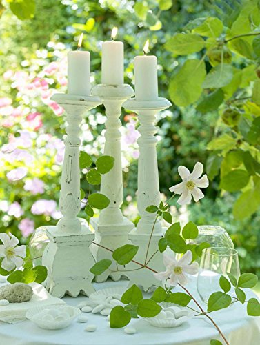15.75 in. x 11.75 in. Pillar Candles in Garden LED Lighted Canvas Wall Art -  NorthLight, 32039535