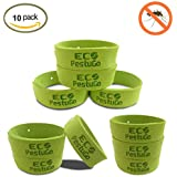 10 Natural Insect and Mosquito Repellent Bracelets DEET Free Microfiber Bug Bands - Family Pack