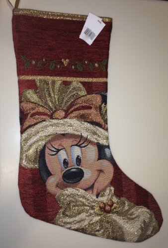 Victorian Christmas Stockings.Disney Park Minnie Mouse Tapestry Victorian Christmas Holiday Import It All