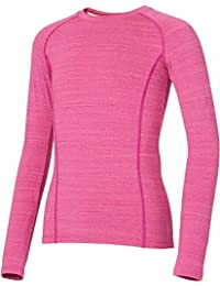 Girls' Cold Weather Compression Spacedye Crewneck Long Sleeve Shirt