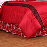 NCAA Ohio State Buckeyes Bed Skirt, Twin, Bright Red