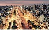 BUENOS AIRES SKYLINE GLOSSY POSTER PICTURE PHOTO argentina capital rio plata