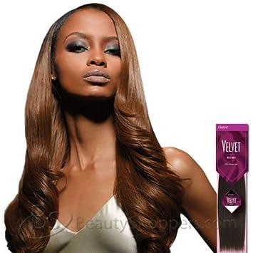 VELVET Remi Human Hair Weave   YAKI WEAVING 16u0026quot; (4 LIGHT BROWN)