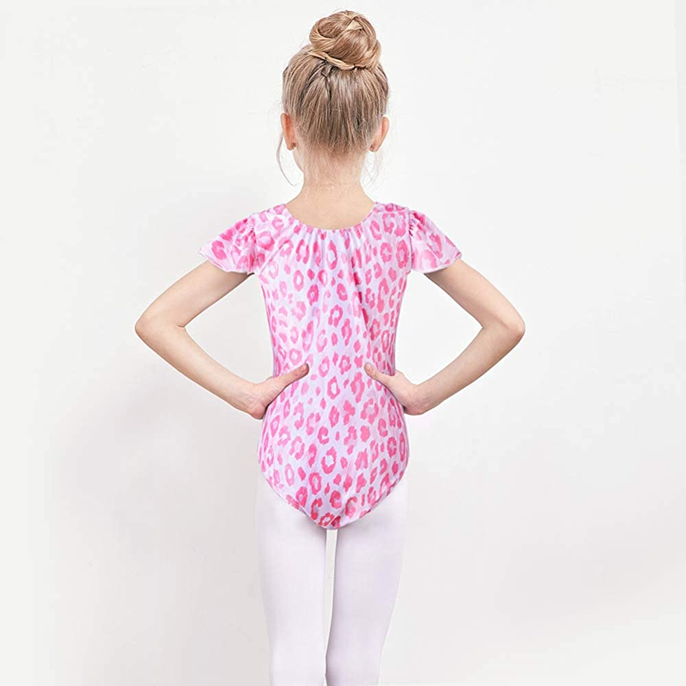 Play Tailor Gymnastic Leotards for Girls Toddler Gymnastics Ballet Dance Leotard Flutter Sleeve One Piece Dancewear