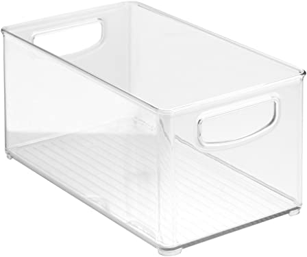"""'InterDesign Home Kitchen Organizer Bin for Pantry, Refrigerator, Freezer & Storage Cabinet, 10"""" x 5"""" x 6"""", Clear' from the web at 'https://images-na.ssl-images-amazon.com/images/I/515Sp4VlCmL._AC_SY375_.jpg'"""