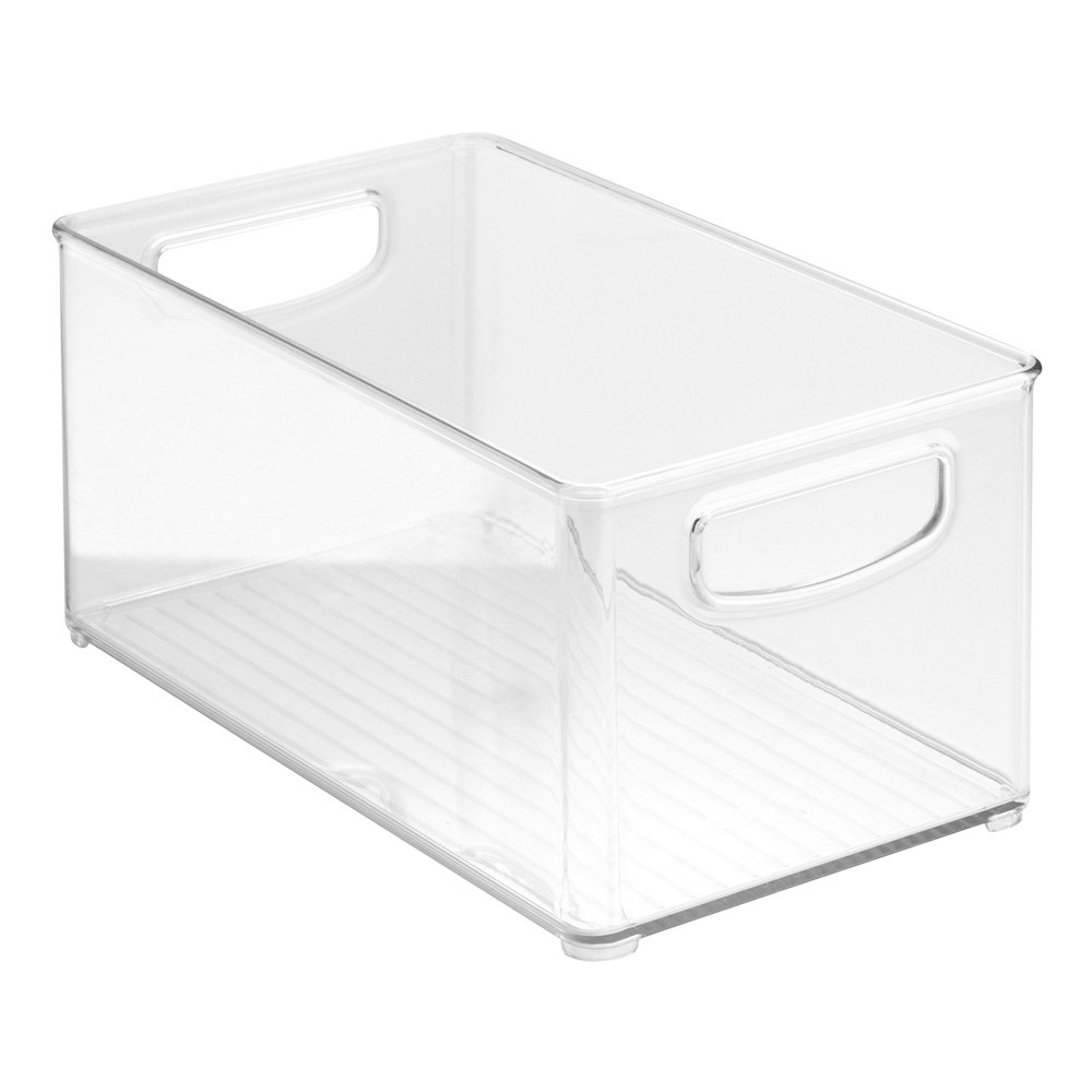 InterDesign Home Kitchen Organizer Bin Pantry, Refrigerator, Freezer & Storage Cabinet, 10'' x 5'' x 6'', Clear