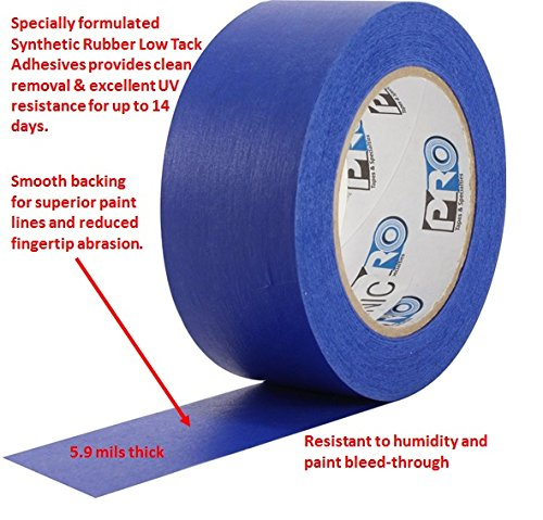 ProTapes Pro Scenic 714 Crepe Paper 14 Day Easy Release Painters Masking Tape, 60 yds Length x 3/4