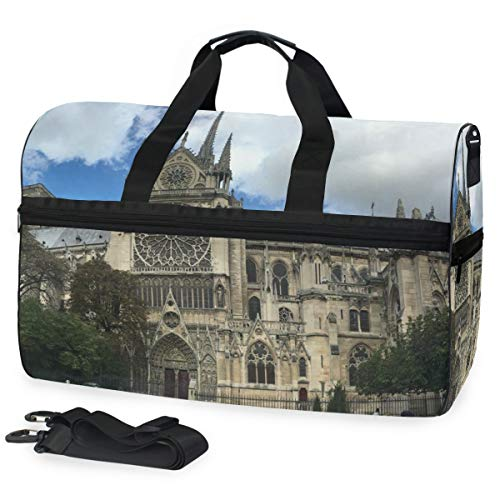 Gym Bag Notre Dame De Paris Sacre Coeur Duffle Bag Large Sport Travel Bags for Men Women]()