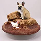 Conversation Concepts Miniature French Bulldog Fawn Candle Topper Tiny One ''A Day on the Farm'' (Set of 6)