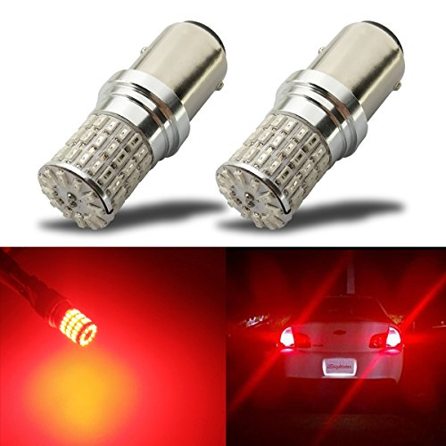 iBrightstar Newest 9-30V Extremely Bright 1157 2057 2357 7528 BAY15D LED Bulbs replacement for Tail Brake Lights,Brilliant Red