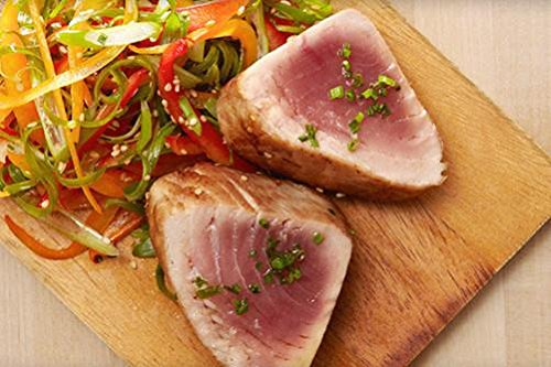 Greensbury Market - 14 (6oz) Wild Caught Tuna Steaks, Yellowfin, All Natural - Maldives