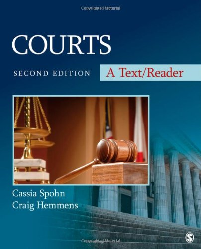 Courts: A Text/Reader (SAGE Text/Reader Series in Criminology and Criminal Justice) (Justice Inc compare prices)
