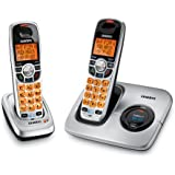 Uniden DECT 6.0 Silver Cordless Phone with Caller ID and Two Handsets (DECT1560-2) - No answering machine