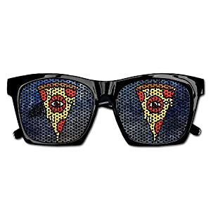 Pizza Eye Party Sunglasses Mesh Lens Glasses Costume Eyewear For Groom Party Wedding Props