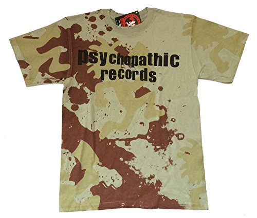 Insane Clown Posse Army Camo Psychopathic Records Green T Shirt (S)